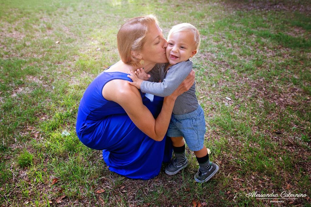 fotografia di mamma e figlio