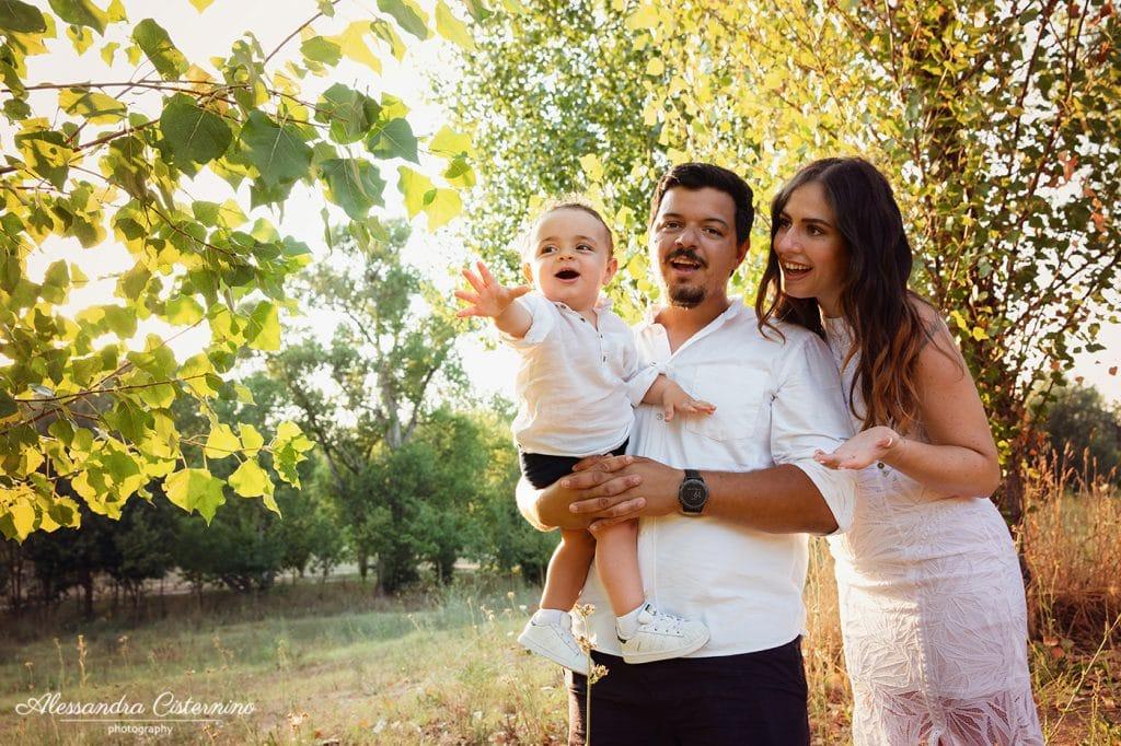 ritratti di famiglia al parco roma